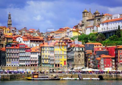 Ribeira, staré město Porto, Portugalsko