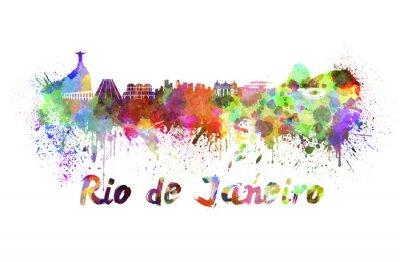 Obraz Rio de Janeiro panorama v akvarelu