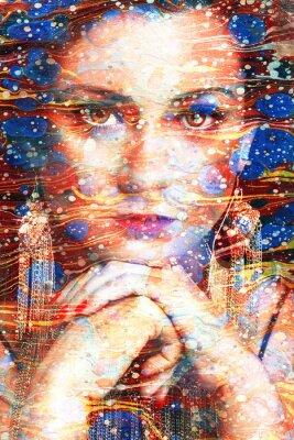 Obraz ritratto multicolore