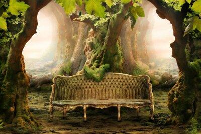 Obraz romantické sídlo v hlubokém lese