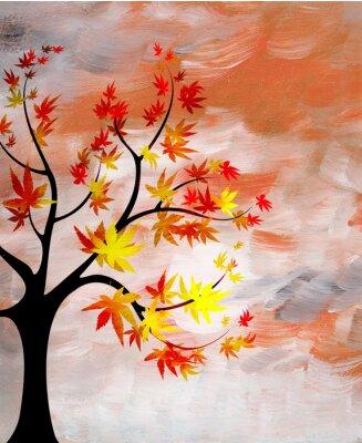 Obraz Romantický západ slunce se stromem