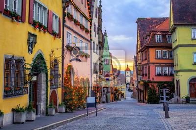 Rothenbug ob der Tauber historické Staré město, Německo