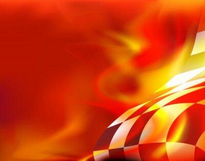 Obraz rovinka pozadí a červené plameny