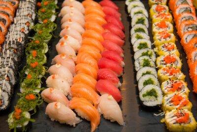 Obraz Rozmanité japonské sushi