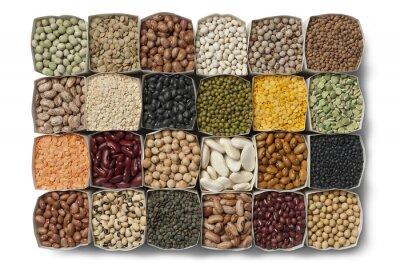 Obraz Rozmanitost sušené fazole a čočka