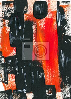Obraz Ručně malovaná barevné abstrakce paining ilustrační