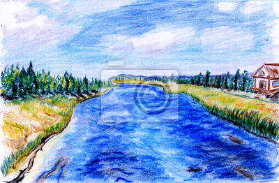 Ručně malované řeka