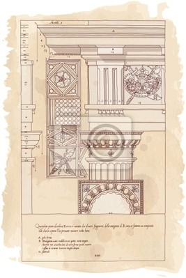 Ručně nakreslit náčrtek dórské architektury objednávky