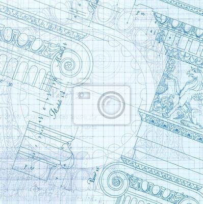 Ručně nakreslit náčrtek iontové architektonický plán