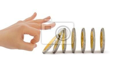Ruční a padající mince