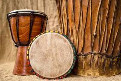 Obraz ruční djembe bubny