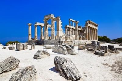 Ruiny chrámu na ostrově Aegina, Řecko