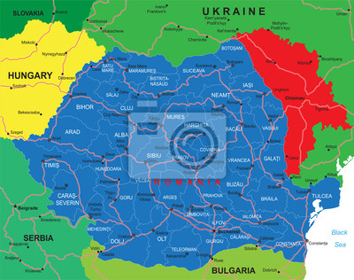 Rumunsko Mapa