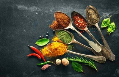 Obraz Různé byliny a koření