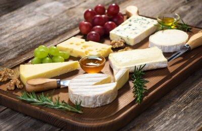 Obraz Různé druhy sýrů