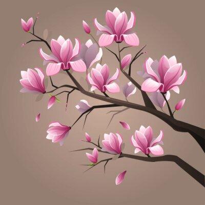 Obraz Růžové Květiny Magnolia