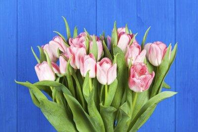 Obraz Růžové tulipány kytice detailní