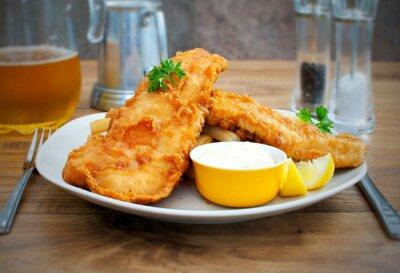 Obraz Ryby a hranolky