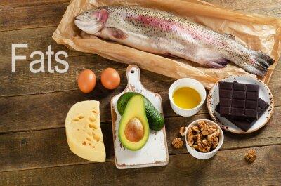 Obraz S vysokým obsahem tuku potraviny, které jsou zdravé