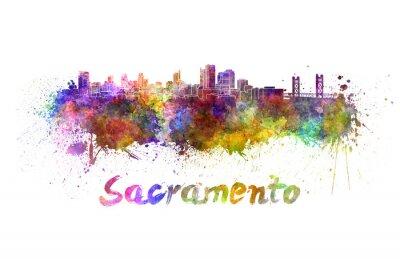 Obraz Sacramento panorama v akvarelu