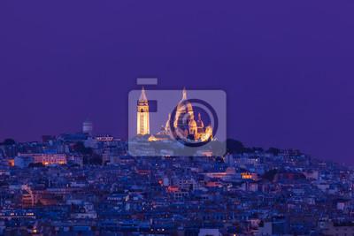 Sacre Coeur v Paříži Francie