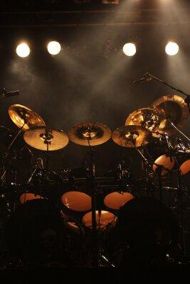 Obraz Sada bubnů na jevišti