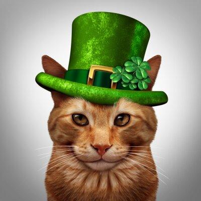 Obraz Saint Patricks Day Cat