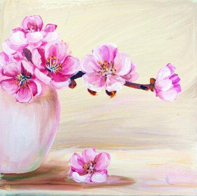 Obraz Sakura květiny ve váze