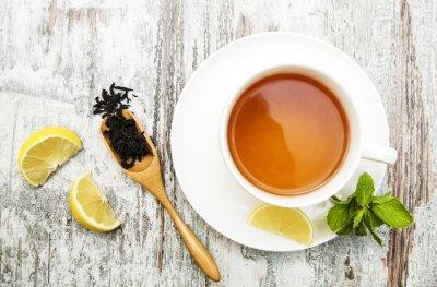 Obraz Šálek čaje s citronem a mátou