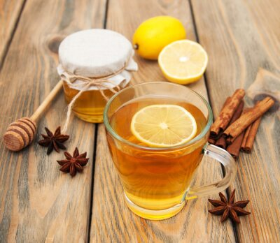Obraz Šálek čaje s medem