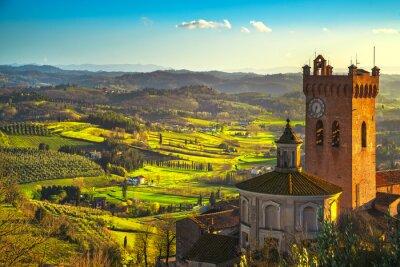 Obraz San Miniato zvonice katedrály. Pisa, Toskánsko Itálie Evropa.