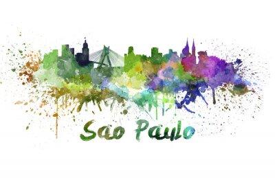Obraz Sao Paulo panorama v akvarelu