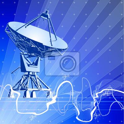 satelitní paraboly antény (Dopplerův radar), digitální vlna