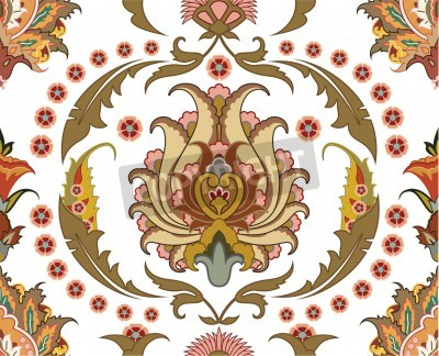 Obraz seamless ornament with east design