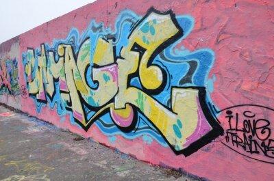 Obraz Segment de mur à Berlín