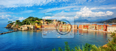 Sestri Levante, Italy, a popular resort town in Liguria