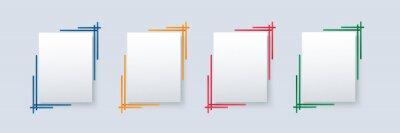 Obraz set of modern square isolated color frame template background vector illustration EPS10