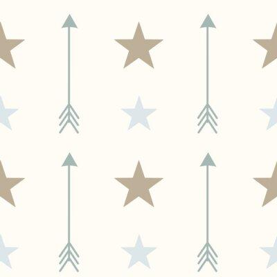 Obraz severském stylu barvy šipky a hvězdy bezešvé vektoru vzor pozadí obrázku