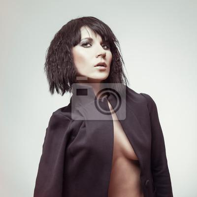 Sexy brunetka žena model