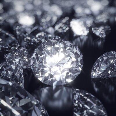 Obraz Shiny Diamanty pozadí