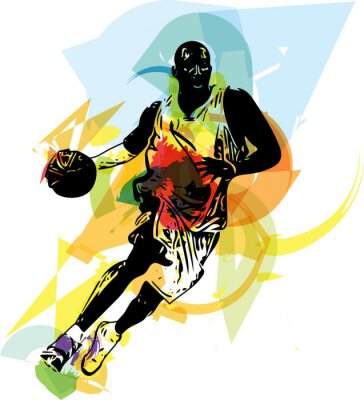 Obraz Skica basketbalista