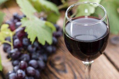 Obraz Sklo na červeném víně