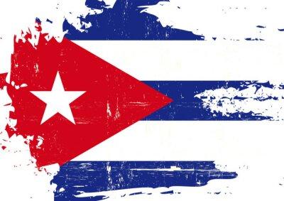 Obraz Škrábance na kubánské vlajky