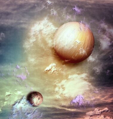 Obraz Sky s planetami