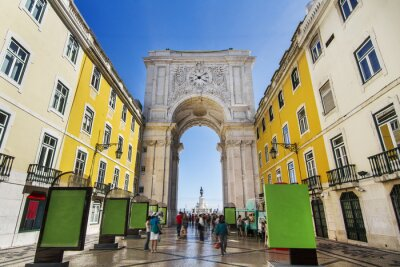 Obraz Slavný oblouk ulice Augusta se nachází v Lisabonu