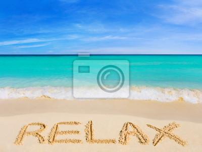 Slovo Relax na pláži