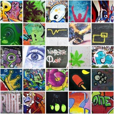 Obraz Složení graffiti art urbain