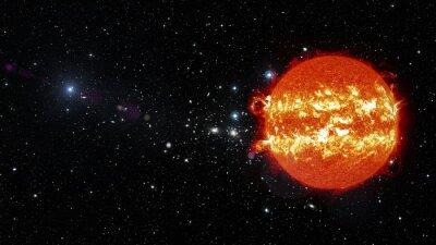 Obraz Slunce ve vesmíru. Prvky tohoto obrázku zařízený NASA