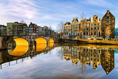 Obraz Slunečné ráno v Amsterdam, Nizozemsko
