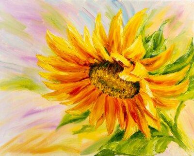 Obraz Slunečnice, olej na plátně
